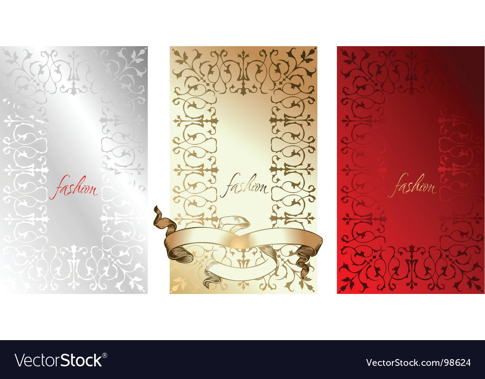 White red gold fashion backgrounds vector | Price: 1 Credit (USD $1)