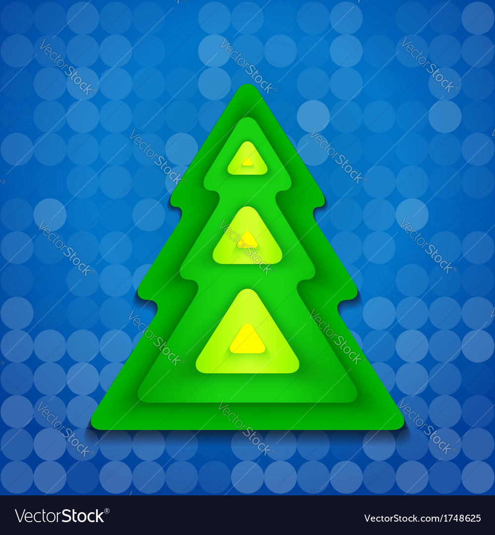 Abstract-rounded-green-christmas-tree-on-blue vector | Price: 1 Credit (USD $1)
