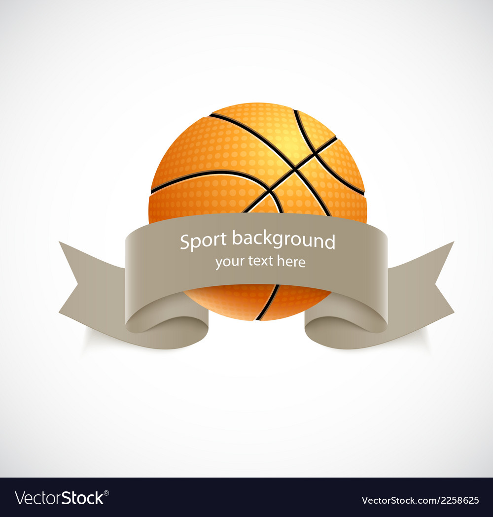 Basketball with brown ribbon vector | Price: 1 Credit (USD $1)