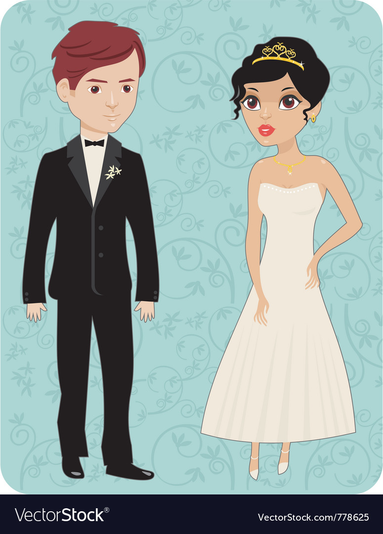 Bride and groom vector | Price: 3 Credit (USD $3)