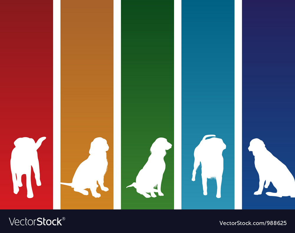 Colourful dogs vector | Price: 1 Credit (USD $1)
