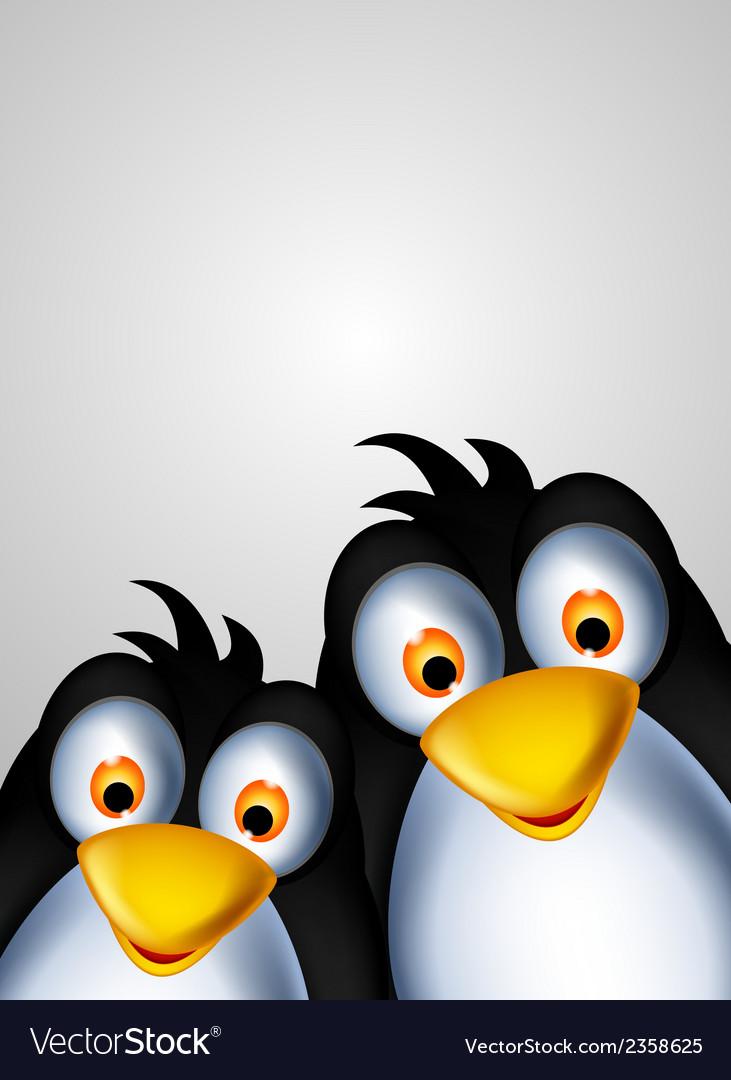 Cute couple penguin cartoon vector   Price: 1 Credit (USD $1)