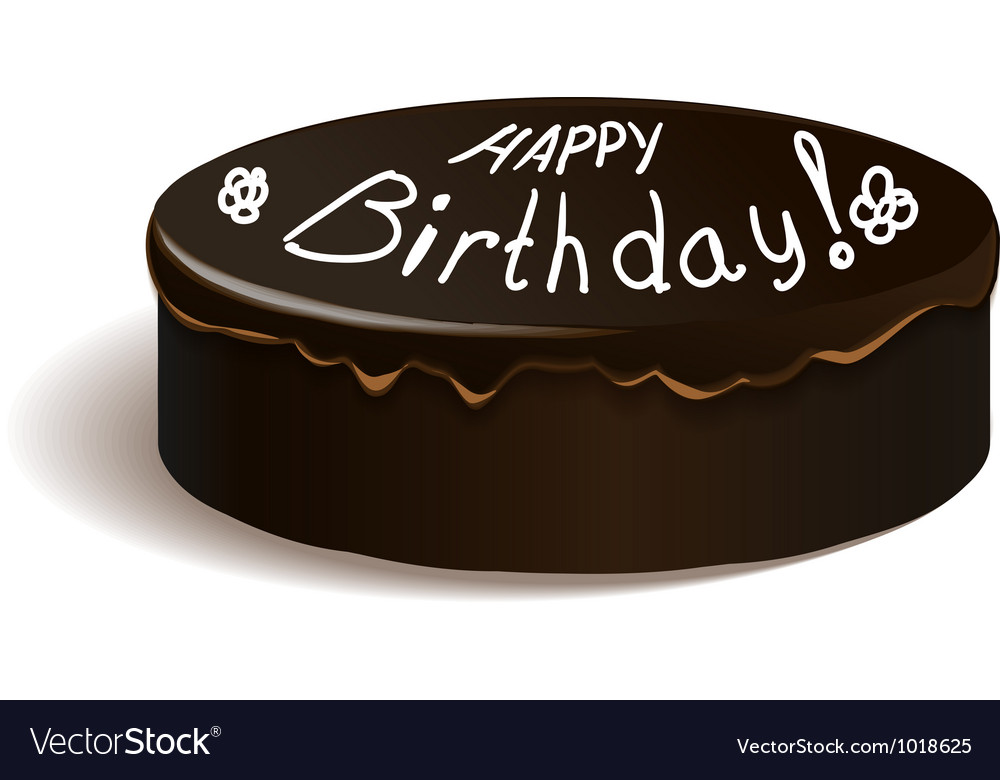 Frosting cake with happy birthday text vector | Price: 1 Credit (USD $1)