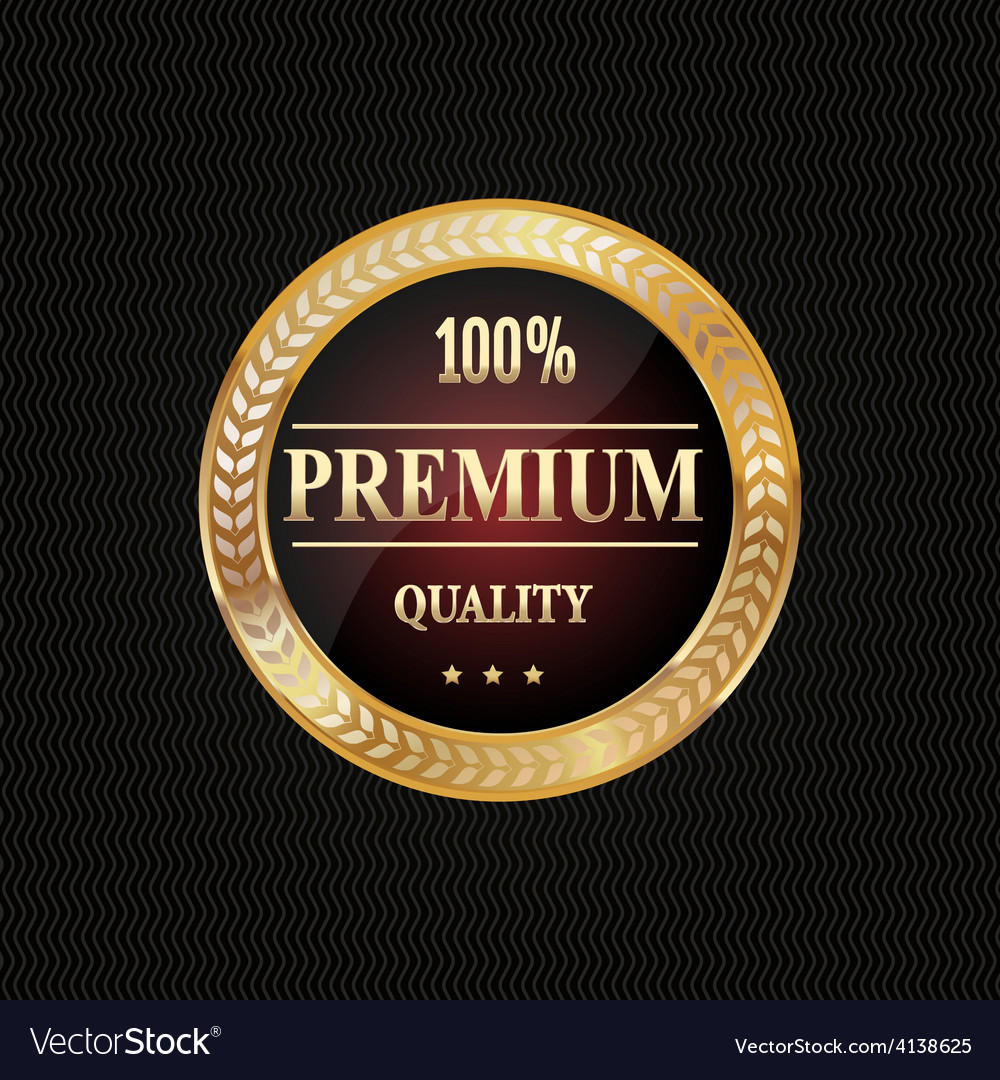 Golden label premium quality vector | Price: 3 Credit (USD $3)