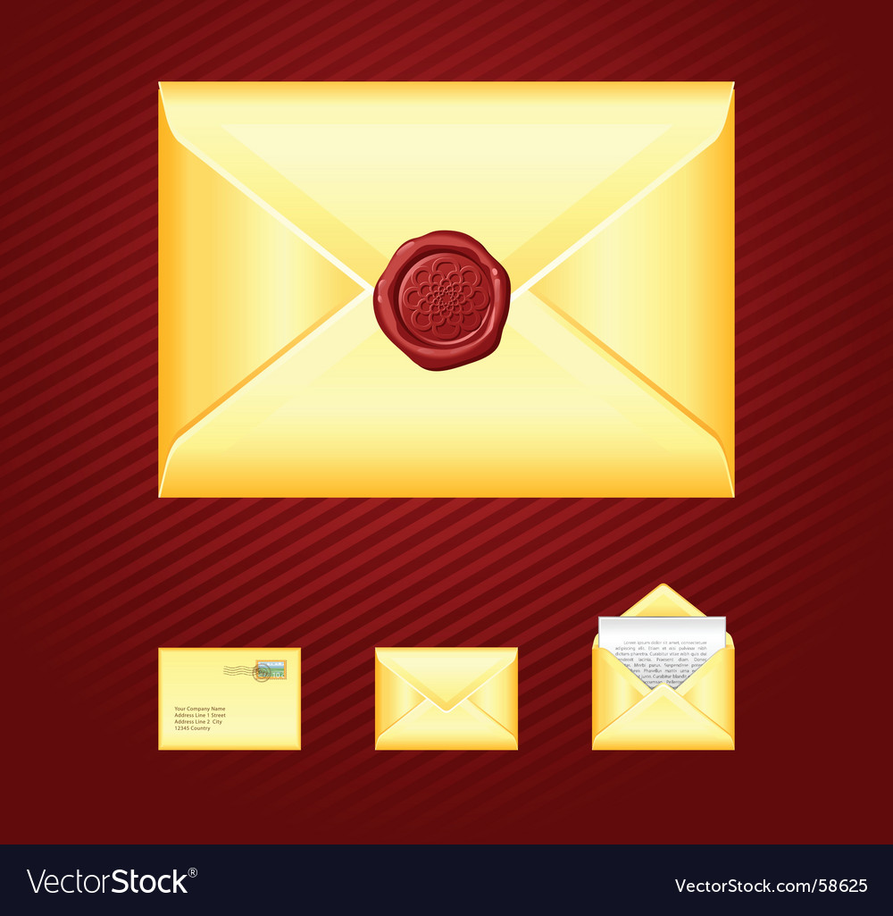 Mail sealing wax vector | Price: 1 Credit (USD $1)