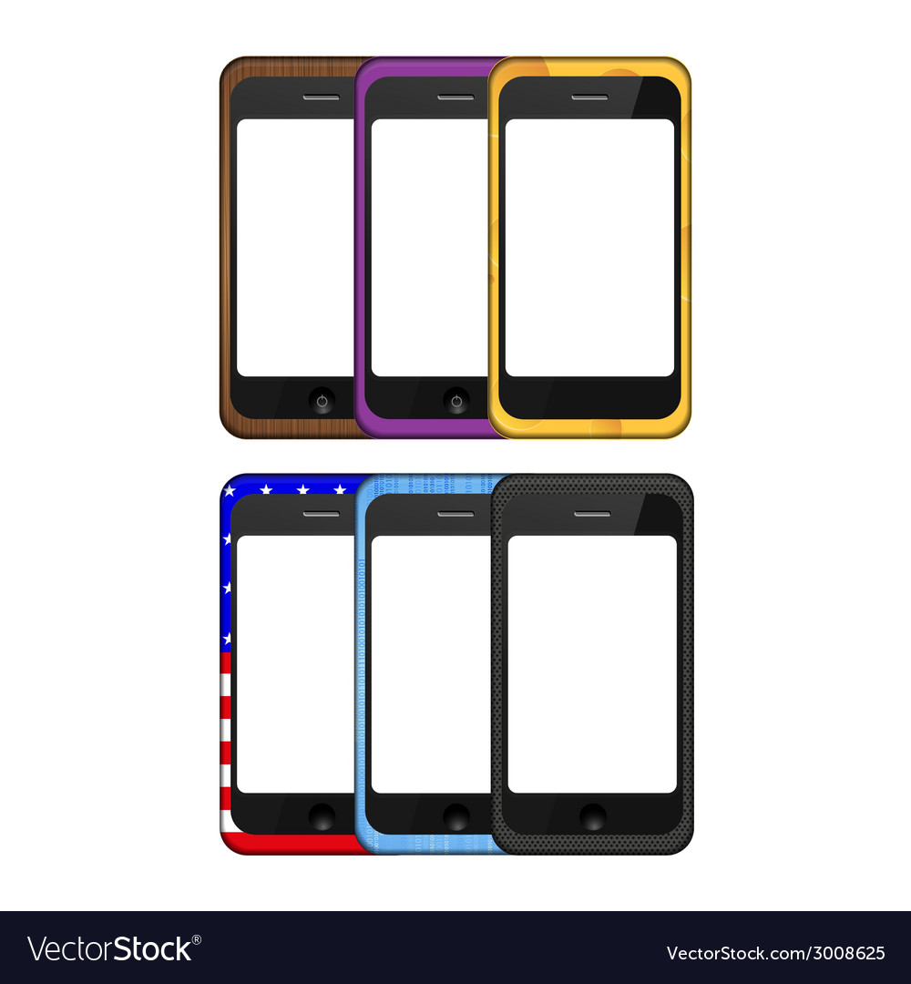 Modern smartphone set vector | Price: 1 Credit (USD $1)