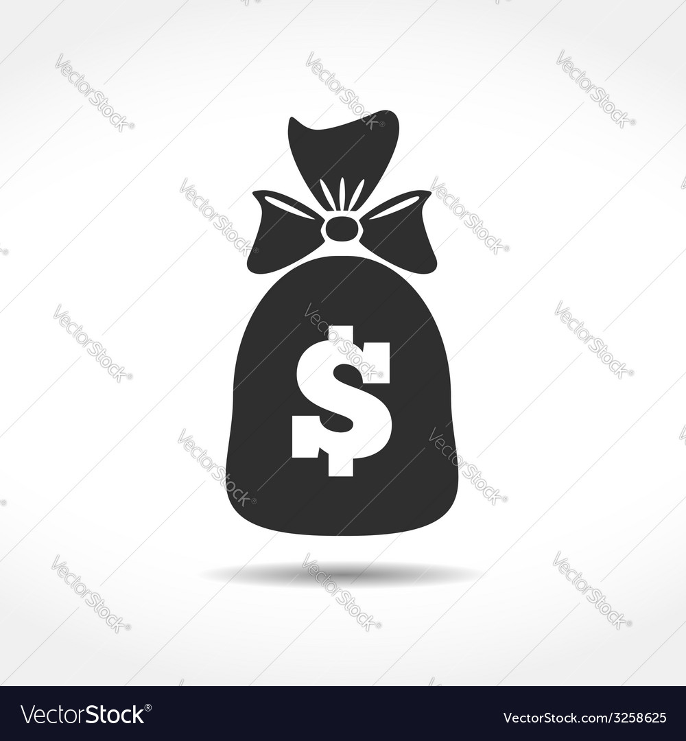 Money bag icon vector | Price: 1 Credit (USD $1)