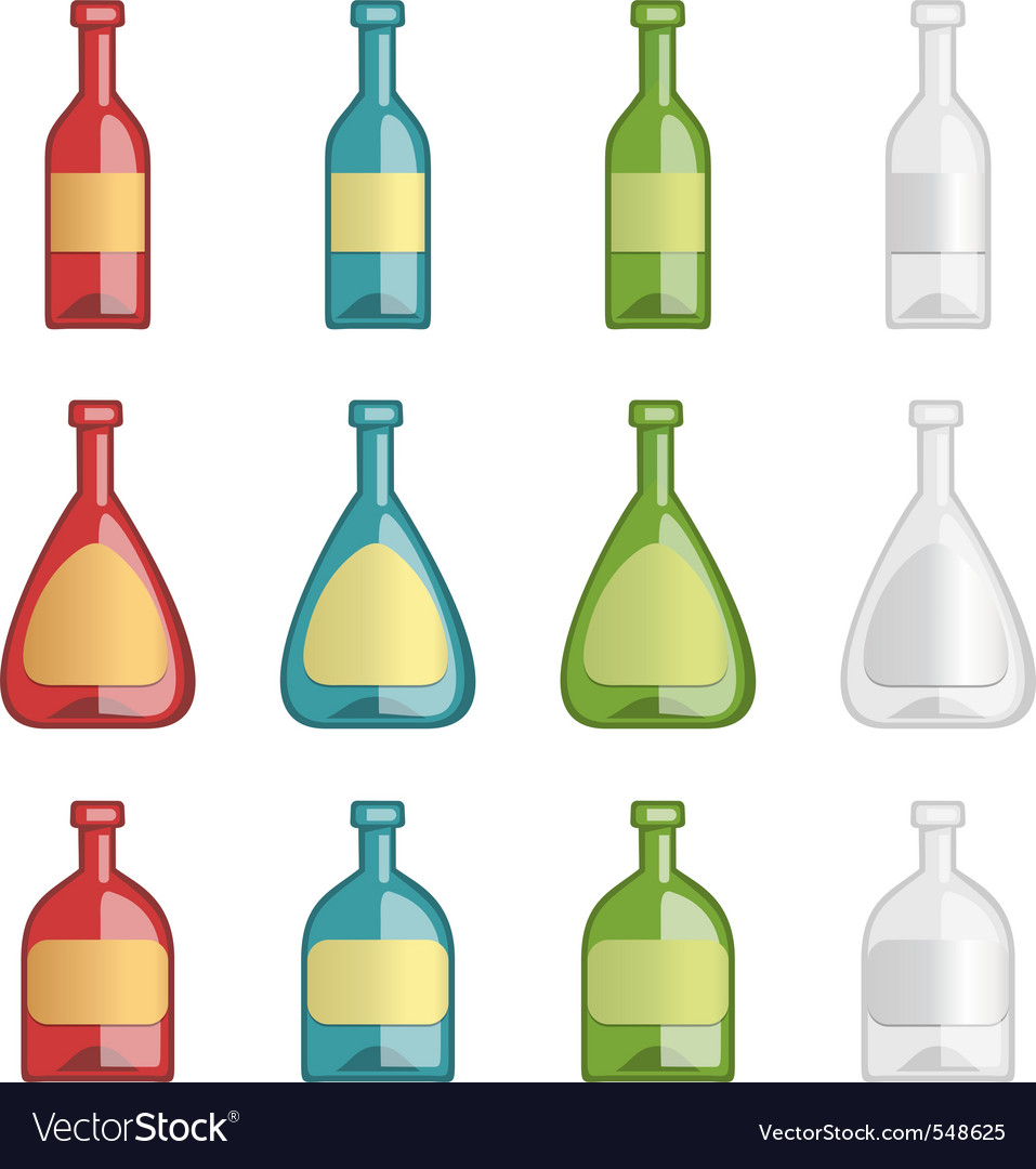 Ollection of alcohol bottles vector | Price: 1 Credit (USD $1)
