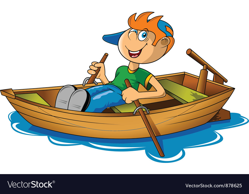Rowing boat vector | Price: 1 Credit (USD $1)
