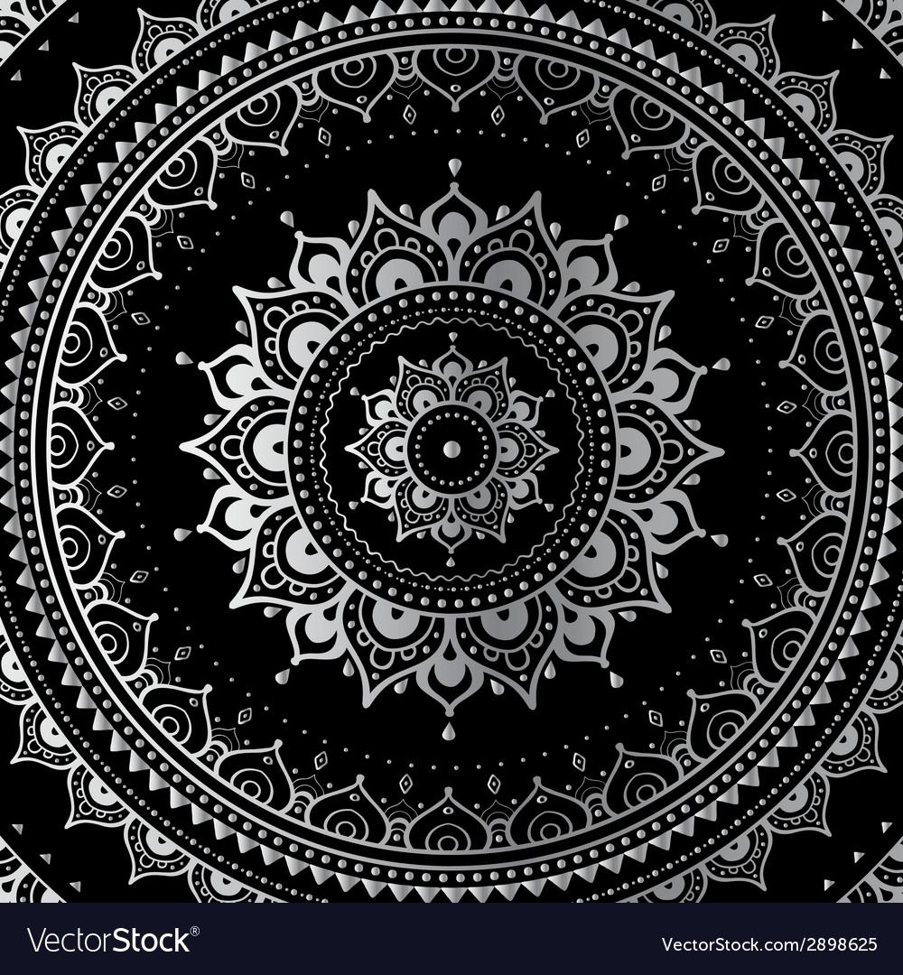 Silver mandala vector | Price: 1 Credit (USD $1)