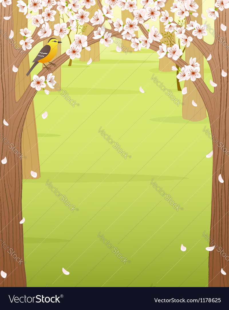 Spring forest vector | Price: 1 Credit (USD $1)