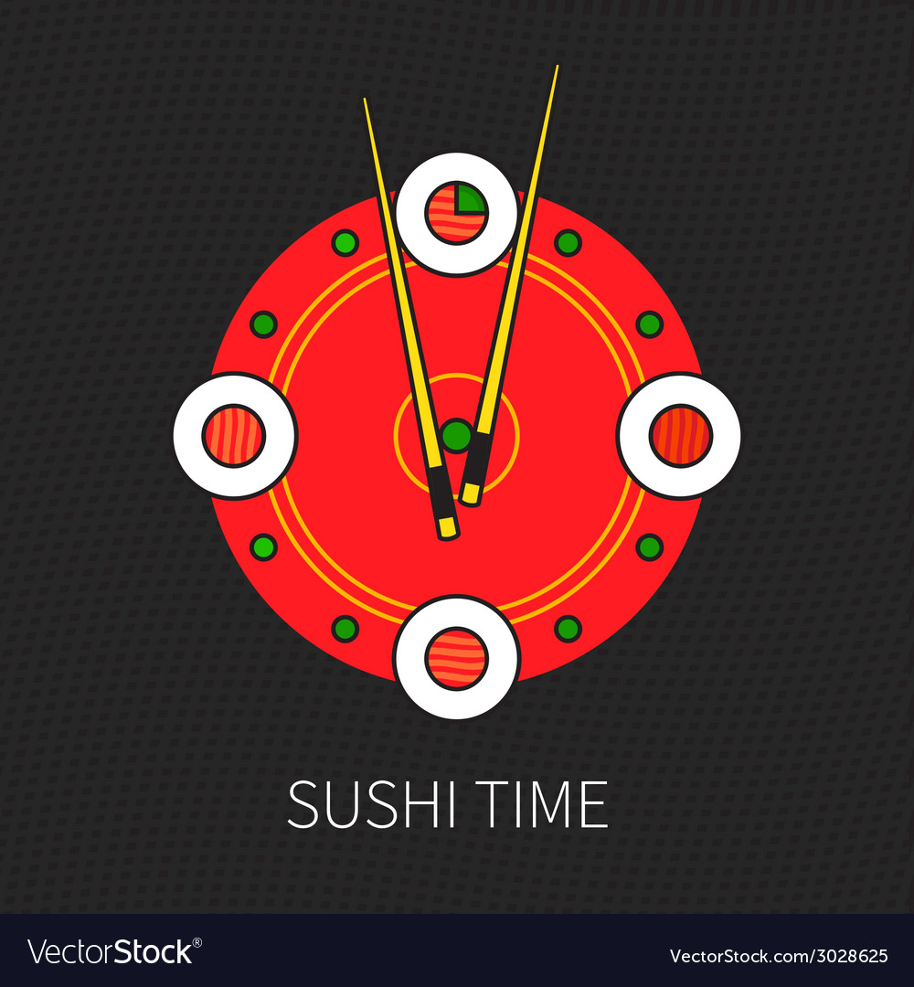 Sushi time vector | Price: 1 Credit (USD $1)