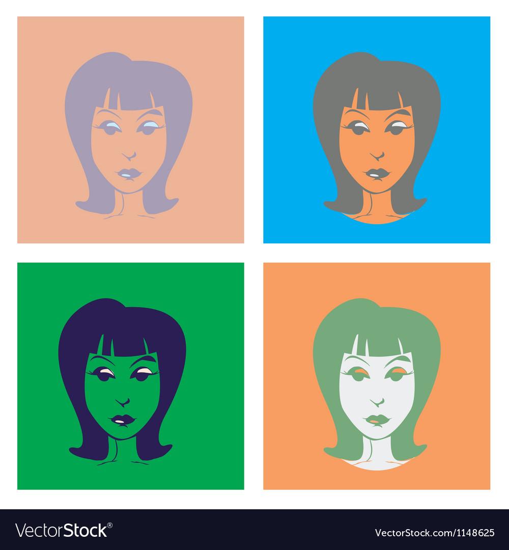 Womans head vector | Price: 1 Credit (USD $1)