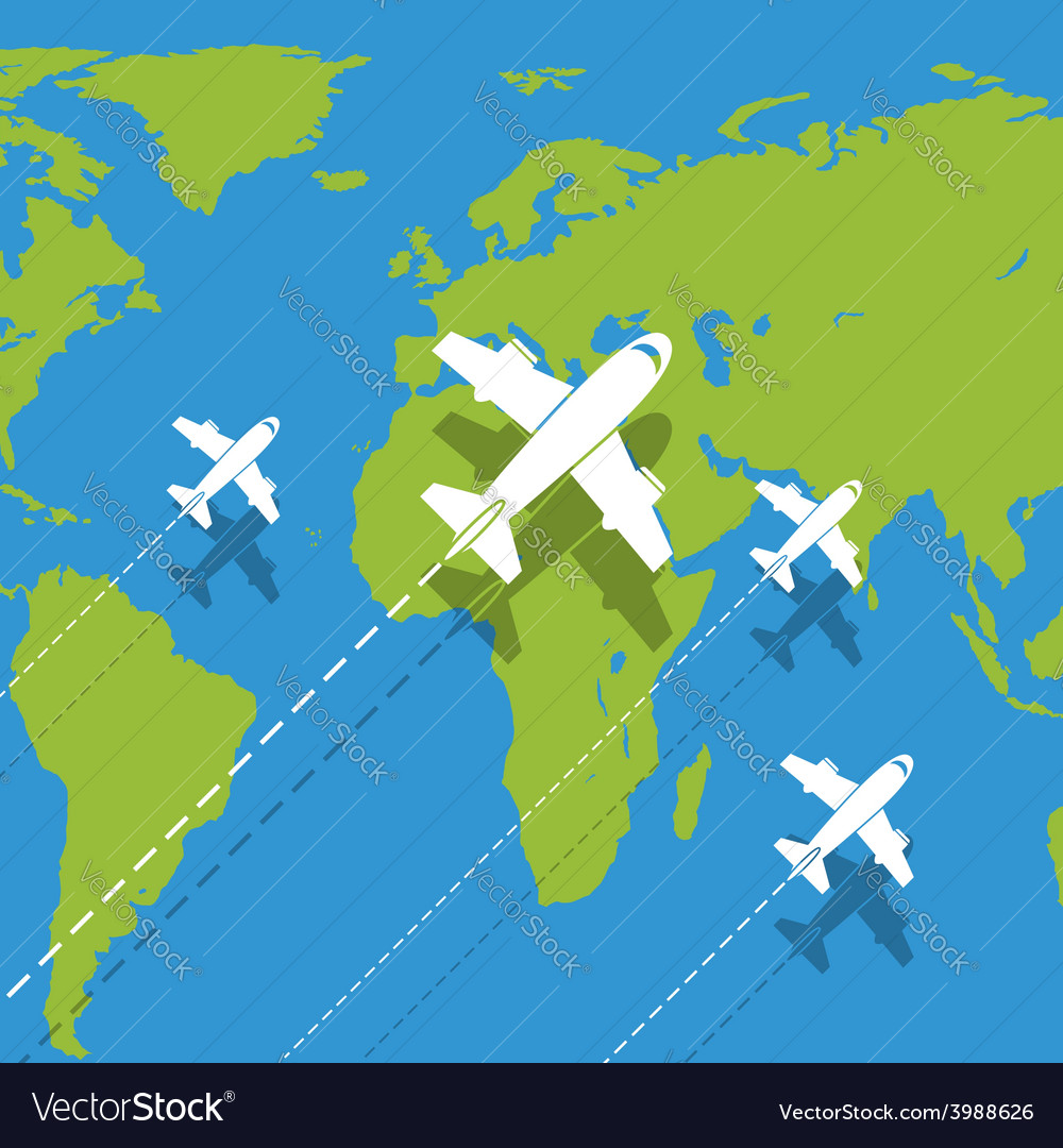 Background planes vector | Price: 1 Credit (USD $1)