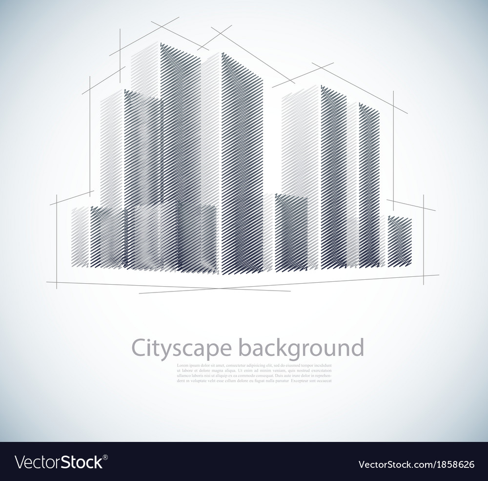 Buildings in sketch vector | Price: 1 Credit (USD $1)