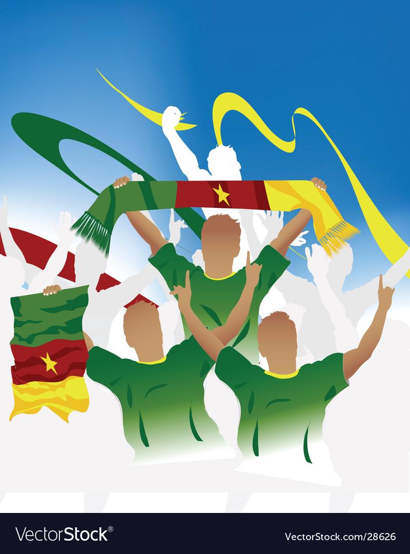 Cameroonian crowd vector | Price: 1 Credit (USD $1)
