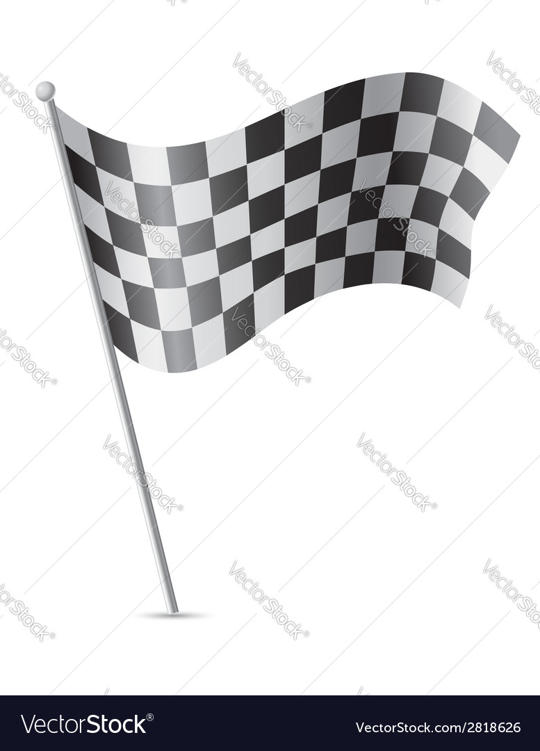 Checkered flag for car racing 01 vector | Price: 1 Credit (USD $1)