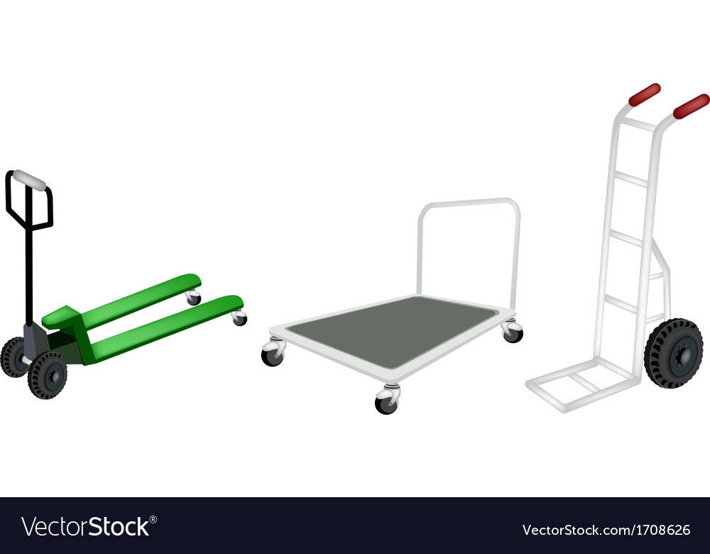 Hand truck dolly and pallet truck vector | Price: 1 Credit (USD $1)