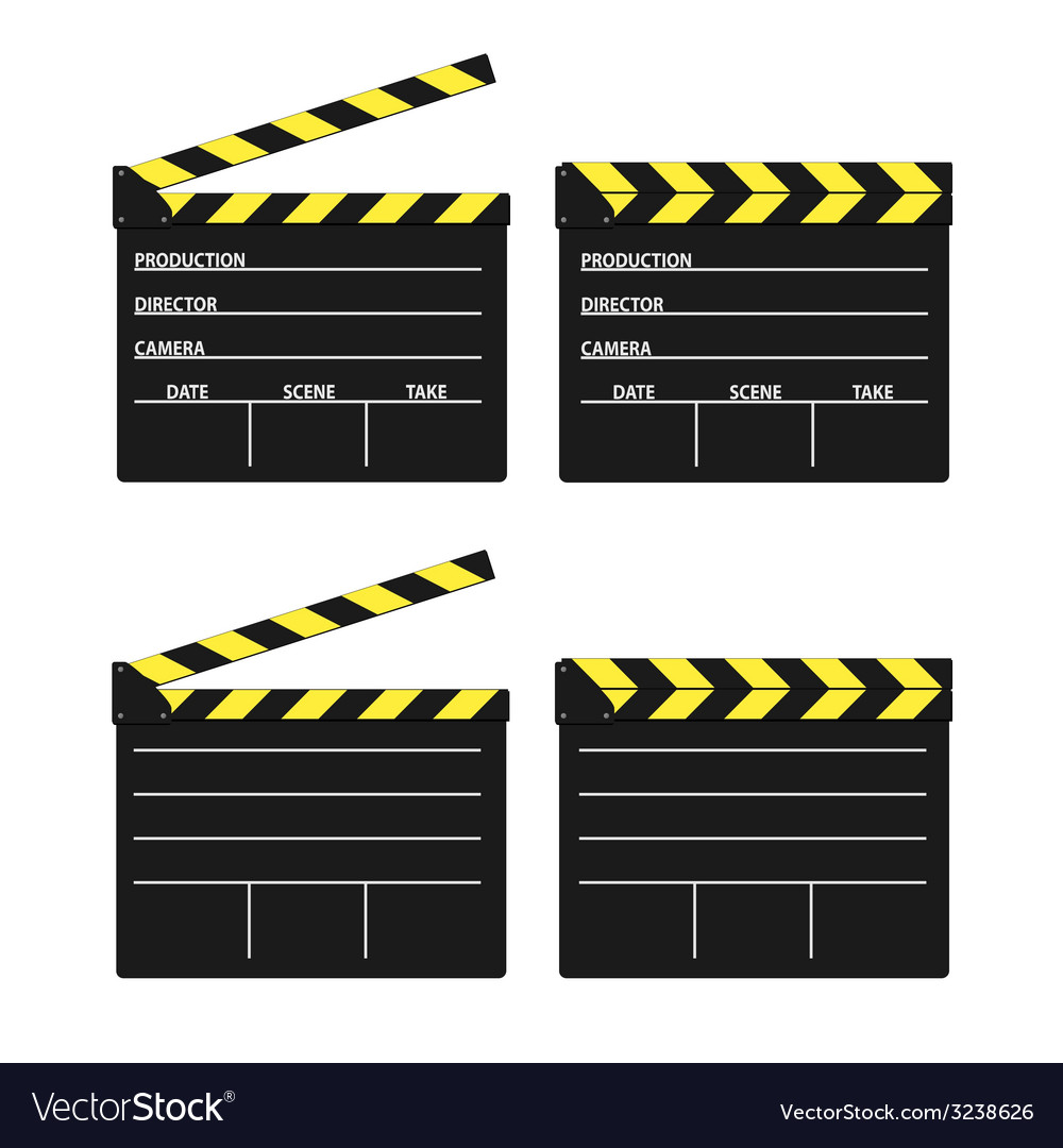 Movie clipper yellow vector | Price: 1 Credit (USD $1)