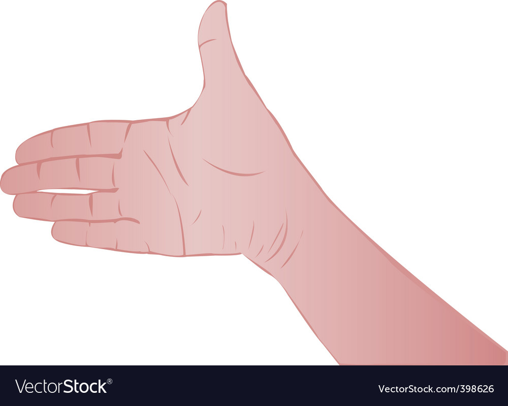Person's hand vector | Price: 1 Credit (USD $1)