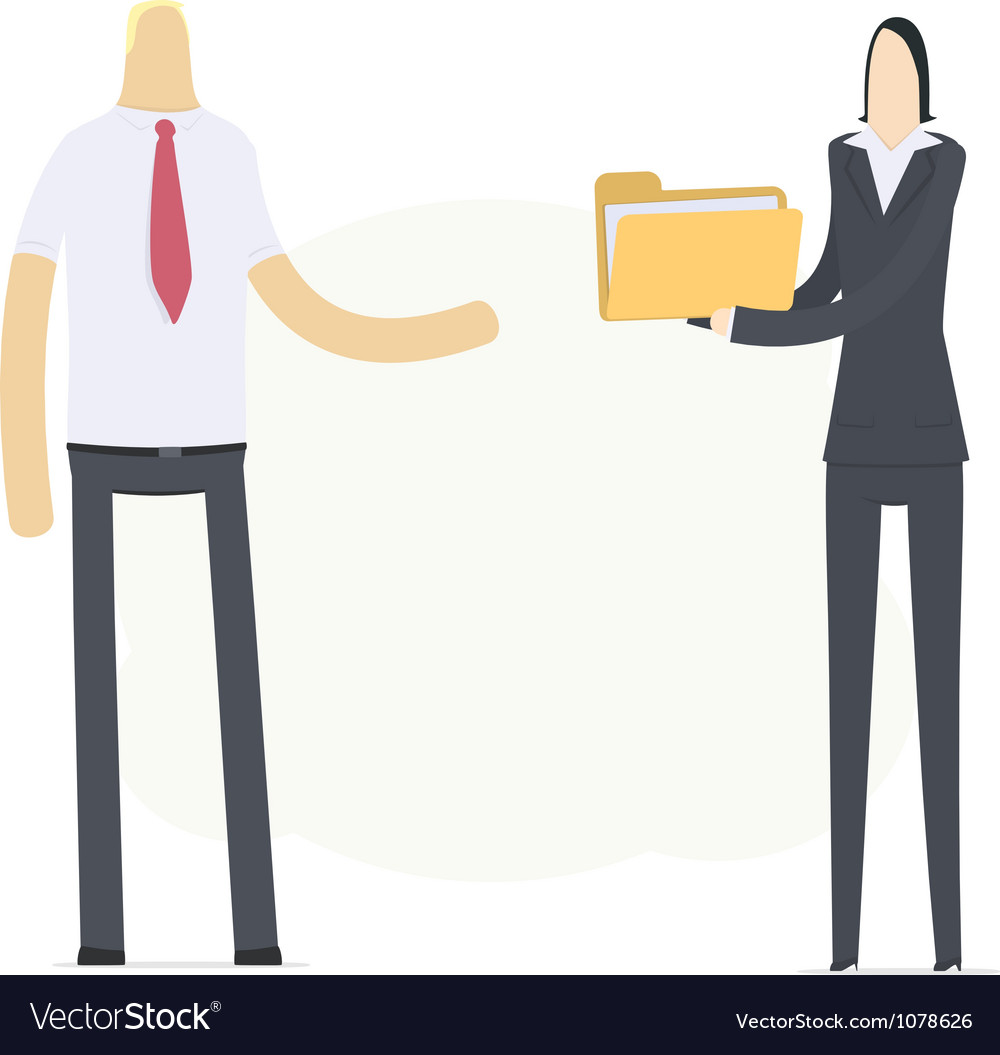Secretary sends important documents vector | Price: 3 Credit (USD $3)
