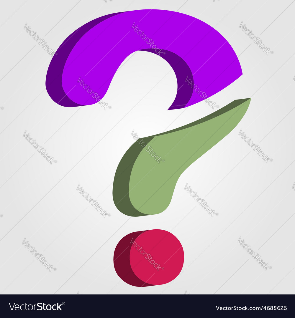 Stylized 3d question mark vector | Price: 1 Credit (USD $1)