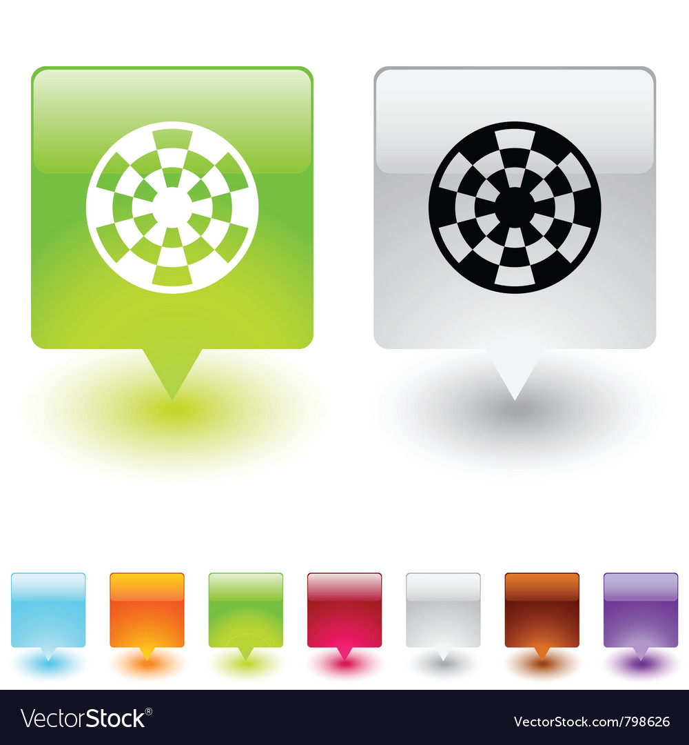 Target square button vector | Price: 1 Credit (USD $1)