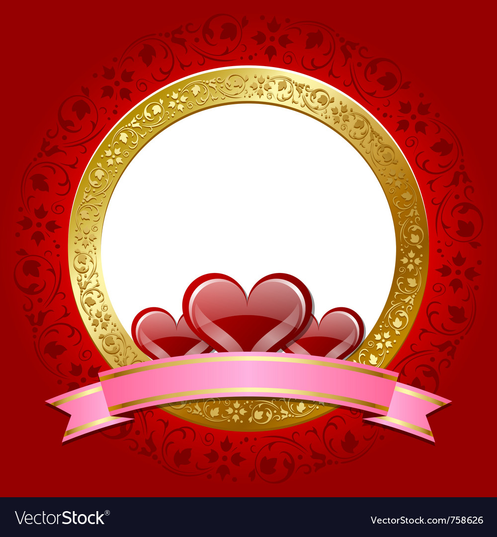 Valentines day plaque vector | Price: 3 Credit (USD $3)
