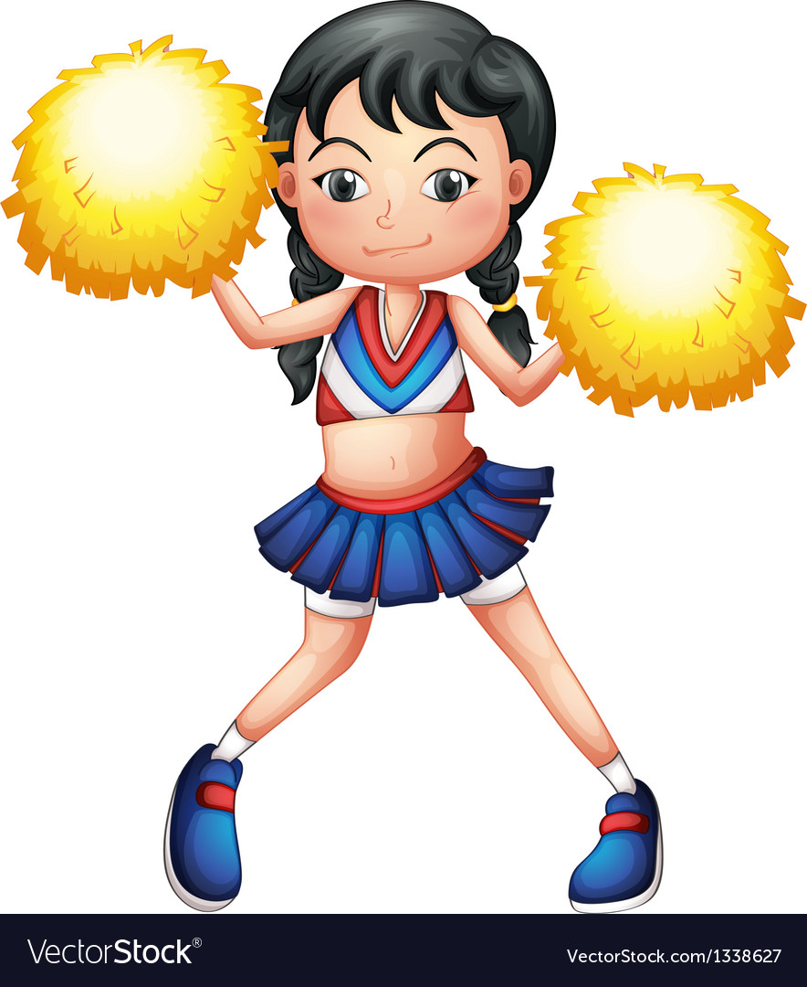 A pretty cheerleader vector | Price: 1 Credit (USD $1)
