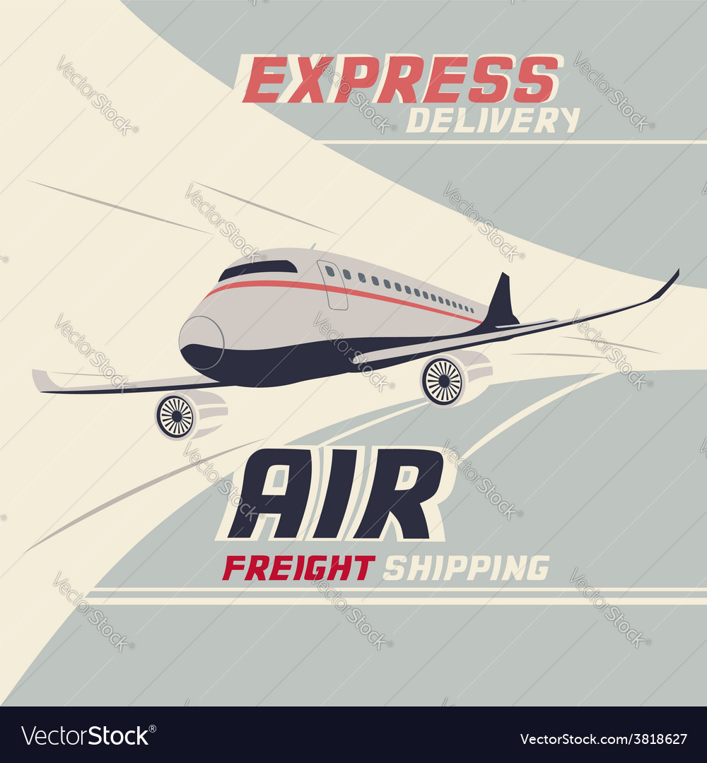 Air freight international shipping vector | Price: 3 Credit (USD $3)