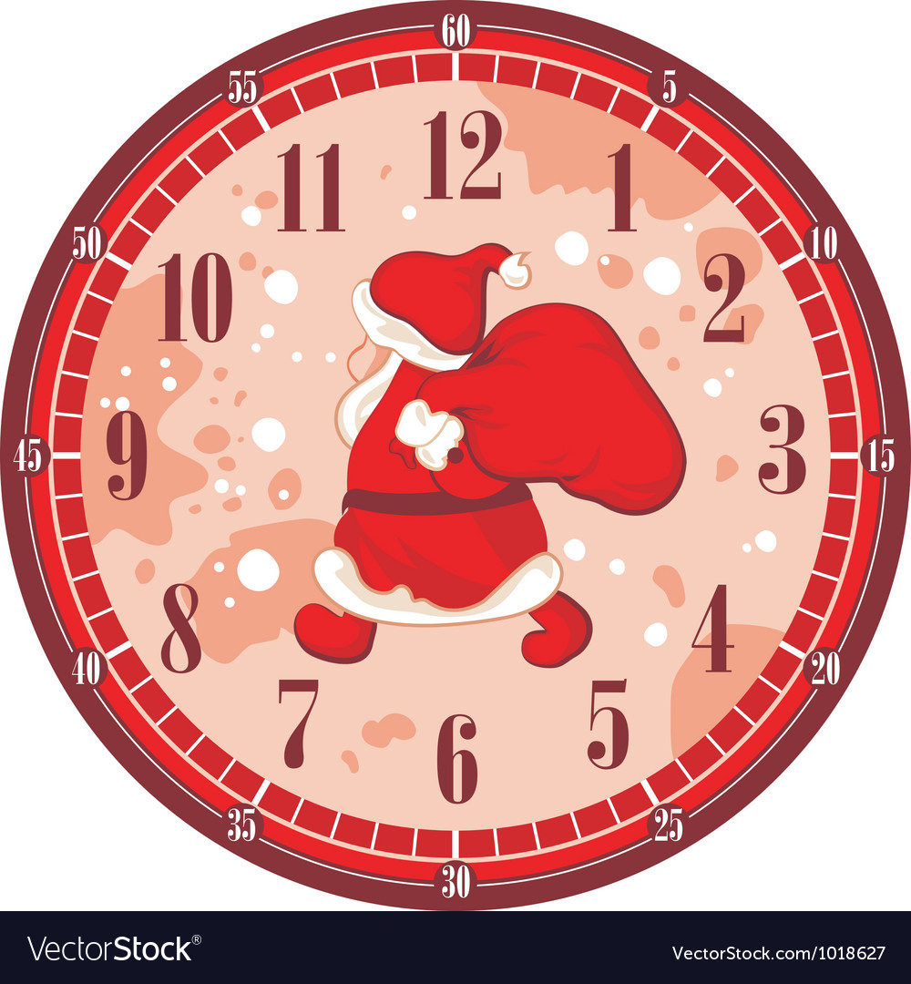Christmas clock face vector | Price: 3 Credit (USD $3)
