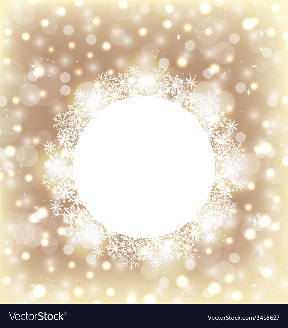Christmas round frame made in snowflakes on vector   Price: 1 Credit (USD $1)