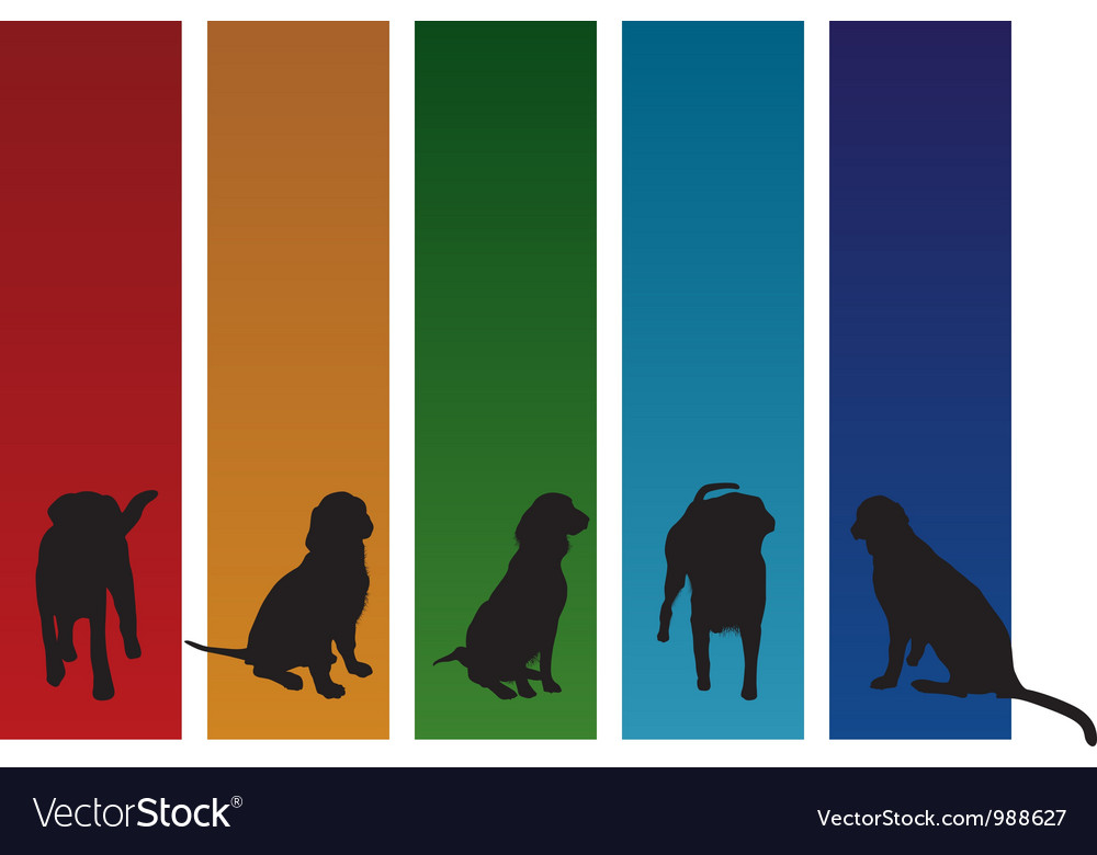 Colourful dogs vector   Price: 1 Credit (USD $1)
