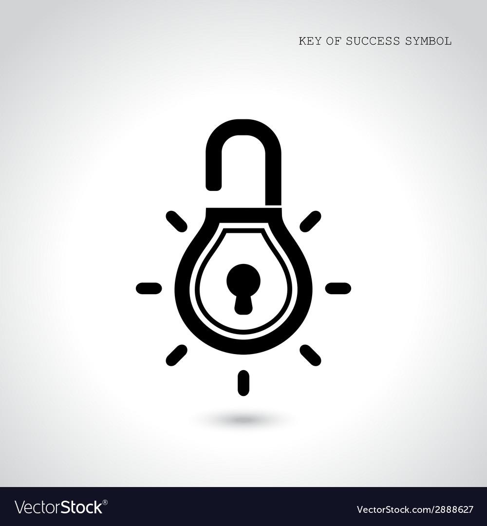 Creative light bulb idea concept with padlock sign vector | Price: 1 Credit (USD $1)