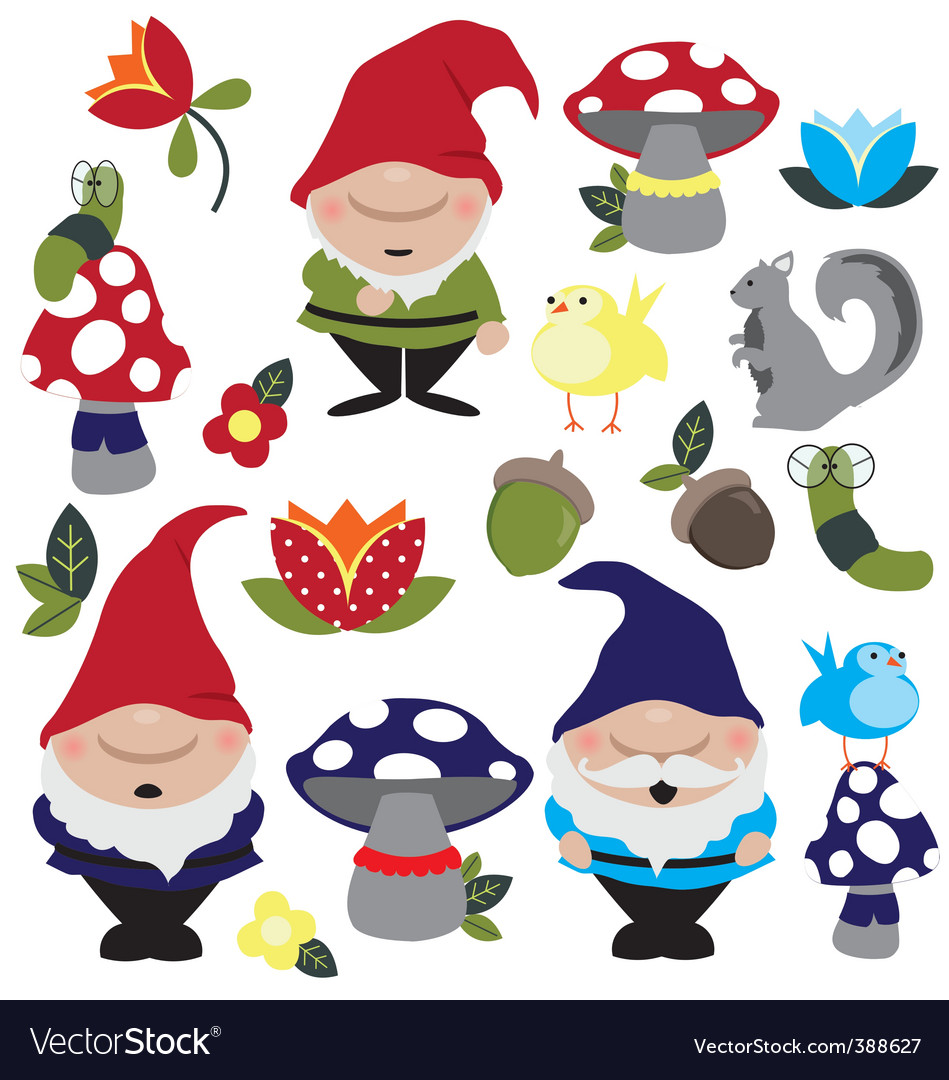 Garden gnomes vector | Price: 1 Credit (USD $1)