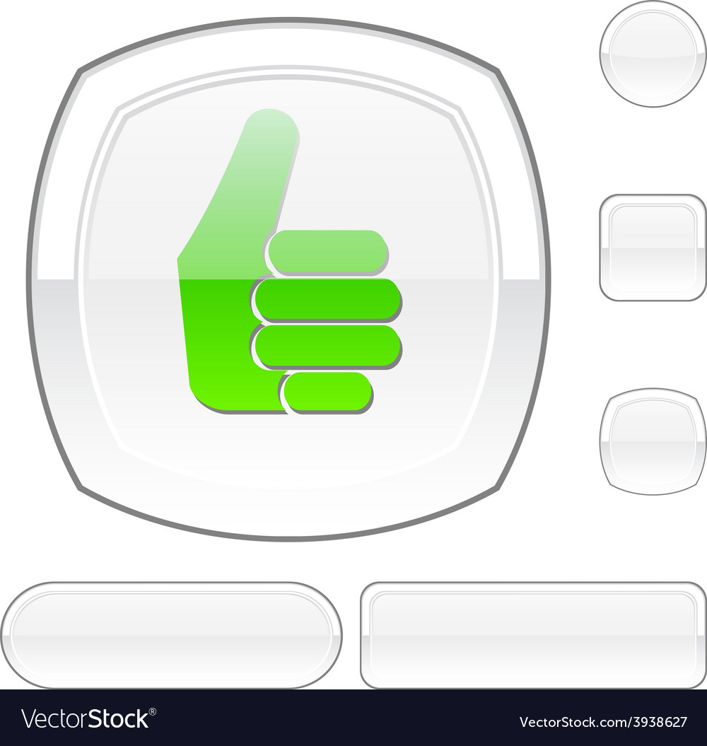 Good white button vector | Price: 1 Credit (USD $1)