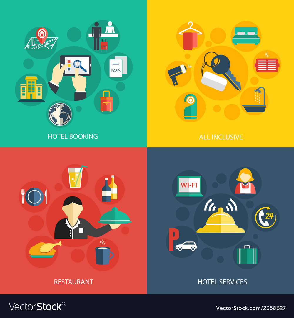 Hotel accommodation services concept vector | Price: 1 Credit (USD $1)