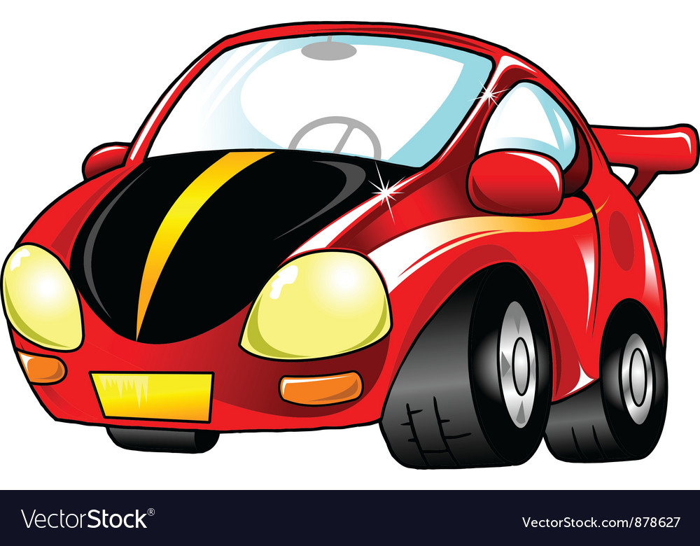 Small red car vector | Price: 1 Credit (USD $1)