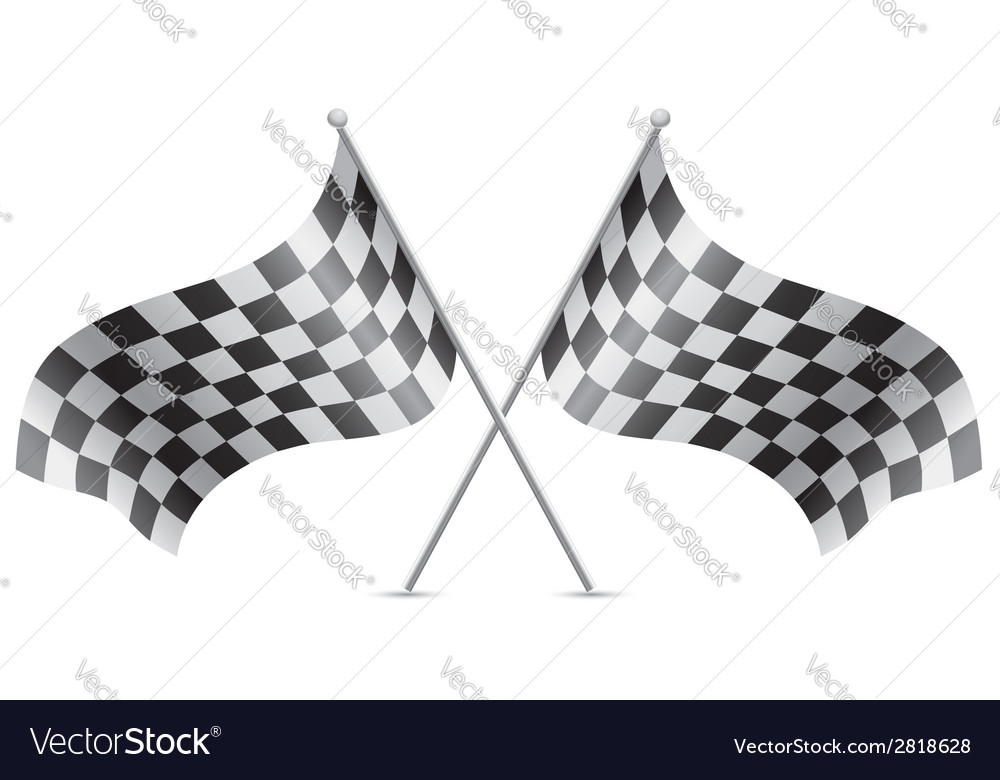 Checkered flag for car racing 02 vector | Price: 1 Credit (USD $1)