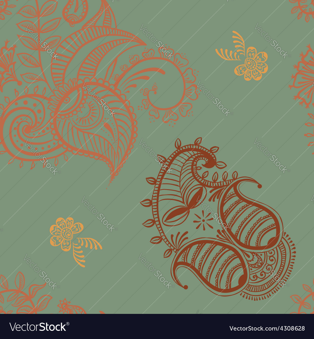 Ethnic seamless pattern indian ornament vector | Price: 1 Credit (USD $1)