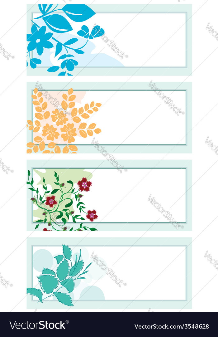 Floral backgrounds with plants vector | Price: 1 Credit (USD $1)