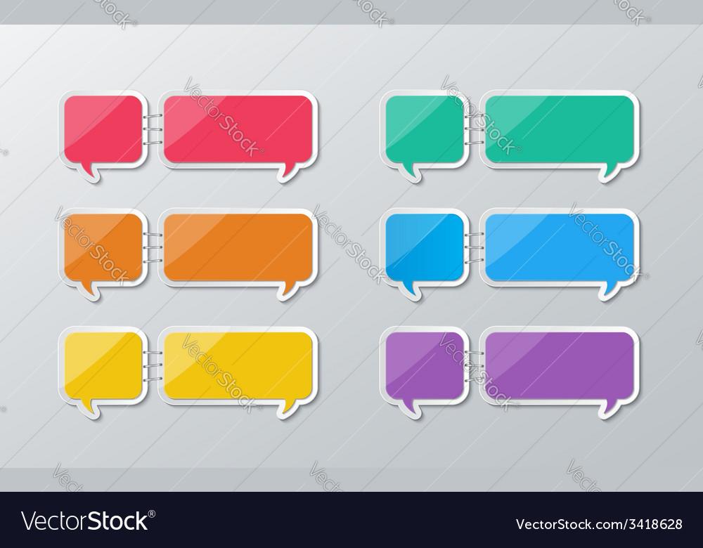 Paper speech bubbles infographics vector | Price: 1 Credit (USD $1)