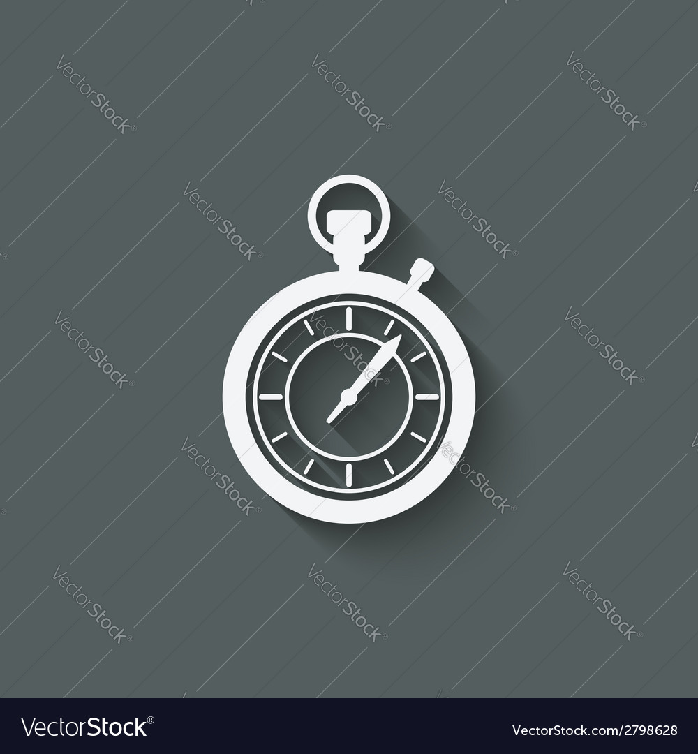 Stopwatch design element vector | Price: 1 Credit (USD $1)