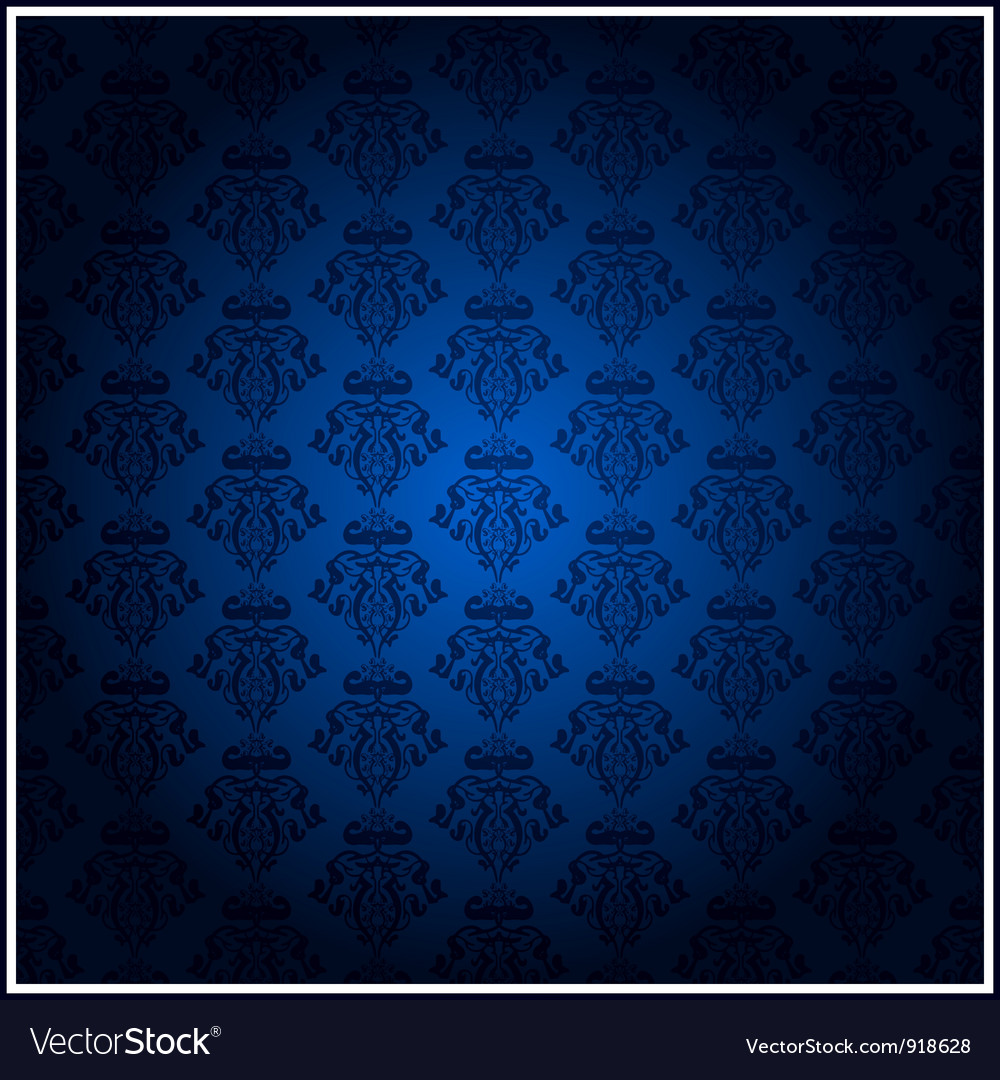 Vintage blue wallpaper vector | Price: 1 Credit (USD $1)