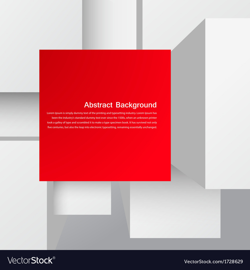 Abstract background square and 3d object vector | Price: 1 Credit (USD $1)