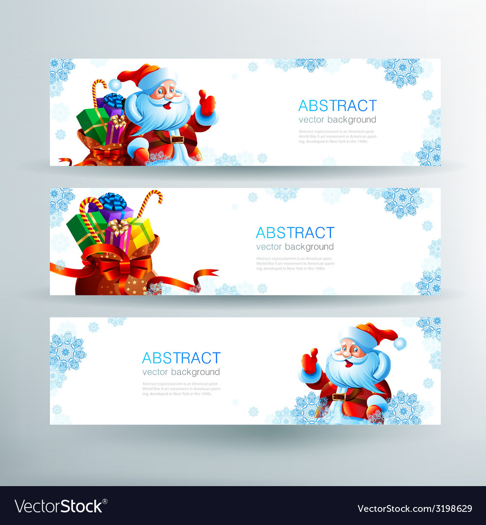 Banner with a bag of christmas gifts vector   Price: 1 Credit (USD $1)