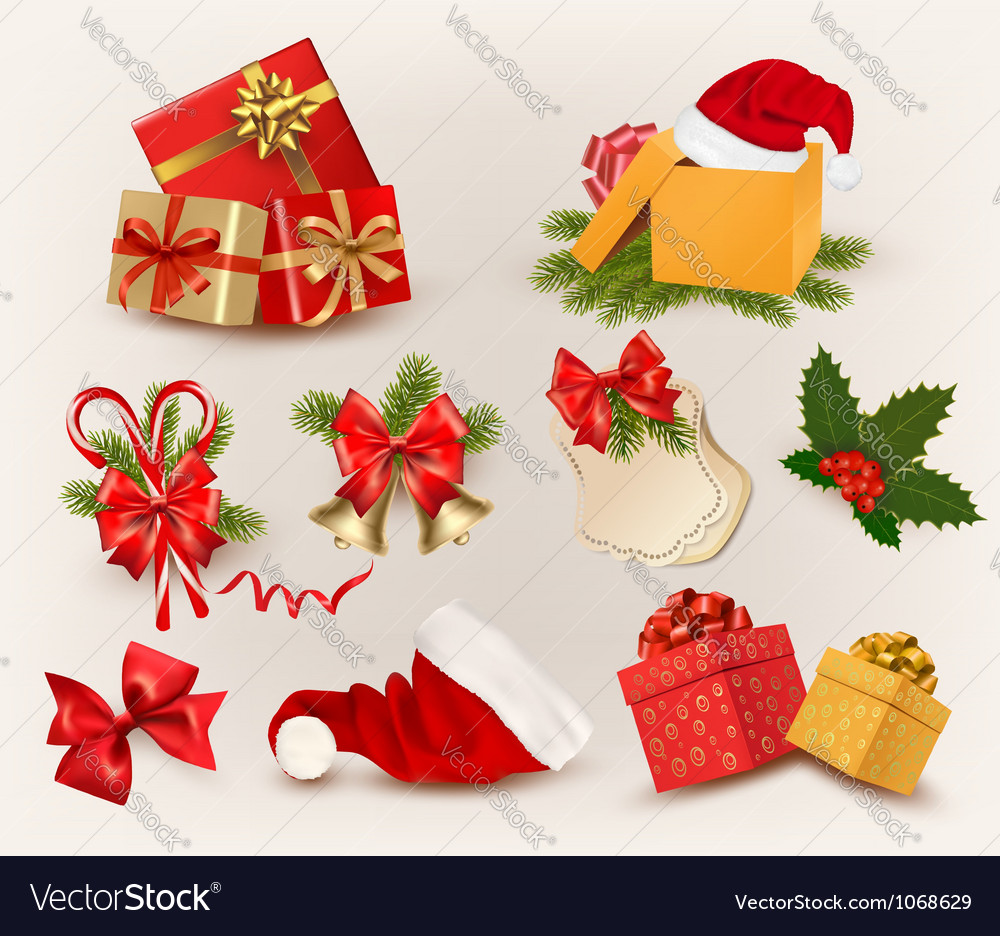 Big set of christmas icons and objects vector | Price: 3 Credit (USD $3)