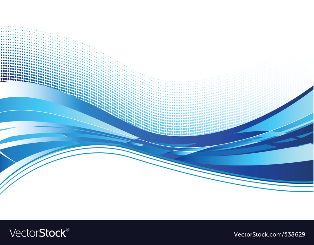 Blue wave background on white vector | Price: 1 Credit (USD $1)
