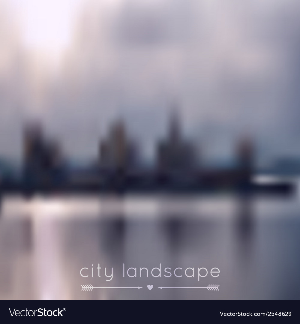 Blurred background with city and river vector | Price: 1 Credit (USD $1)