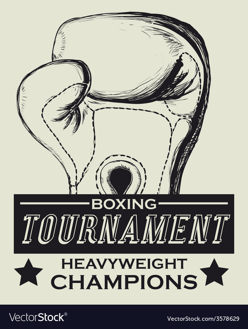 Boxing label design eps10 graphic vector | Price: 1 Credit (USD $1)